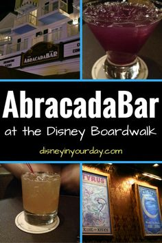 Abracadabar - the new magician themed bar at Disney's Boardwalk!  A look at some of the drinks served and the atmosphere! Disney in your Day