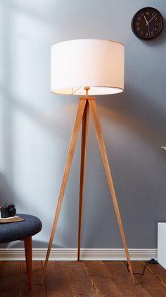 Floor lamp with three iron legs
