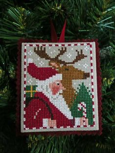 How to finish a cross stitch piece to be an ornament.