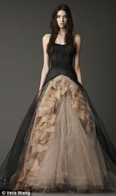 Vera Wang knows how to make a dark girl happy... black wedding dress favorites :)