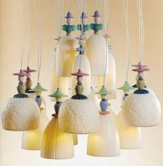 #Lladro #lighting Mademoiselle Collection #porcelain #decoration http://lladro.stores.yahoo.net