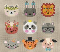 Mini Cross Stitch, Cross Stitch Animals, Modern Cross Stitch, Cross Stitch Charts, Cross Stitch Designs, Baby Cross Stitch Patterns, Cross Stitching, Cross Stitch Embroidery, Embroidery Patterns