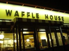 "Waffle House  in Biloxi- I didn't realize they are open all night. When I asked the woman says ""oh no honey, we never close. During hurricane Katrina we stayed open till the National Guard made us leave."""