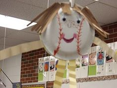 Baseball themed classroom - characters made out of paper plates