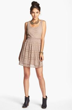 As U Wish Lace Skater Dress (Juniors) (Online Exclusive) | Nordstrom