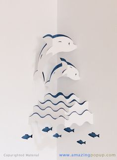 Dolphins Popup Card | www.amazingpopup.com/ It is made by … | Flickr - Photo Sharing!