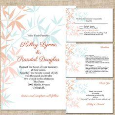 Printable Wedding Invitation Suite RSVP Card by InkaDinkDesigns, $30.00