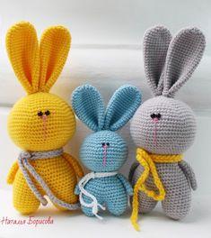 Mesmerizing Crochet an Amigurumi Rabbit Ideas. Lovely Crochet an Amigurumi Rabbit Ideas. Crochet Bunny Pattern, Crochet Dolls Free Patterns, Crochet Rabbit, Cute Crochet, Crochet Yarn, Knitted Bunnies, Stuffed Toys Patterns, Handmade Toys, Crochet Projects