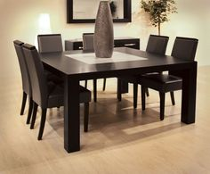 Square Dining Table Counter Height Table Marble Top Home Square Kitchen Table And Chairs Granite Dining Table, Glass Dining Table, Dining Table Design, Modern Dining Table, Dining Table In Kitchen, Dining Table Chairs, Dining Room Furniture, Round Dining, Square Kitchen Tables