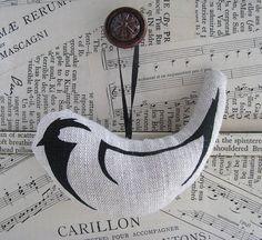 Printed Hanging Bird Decoration  Coal Tit by HandmadeandHeritage, £3.99