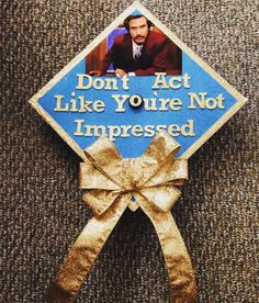 Good evening. I'm Ron Burgundy?  #anchorman #graduation #gradcap #tendays #myNAUcap by lorin_ashley_