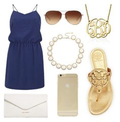 Date Night by kaylaherring97 on Polyvore featuring polyvore, fashion, style, American Vintage, Tory Burch, Vera Bradley, My Name Necklace, Kendra Scott, Sonix and Coach