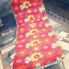 my sun lounger Picnic Blanket, Outdoor Blanket, Vintage Fabrics, Vintage Love, Sun Lounger, Psychedelic, Beach Mat, The Past, Bohemian Rug