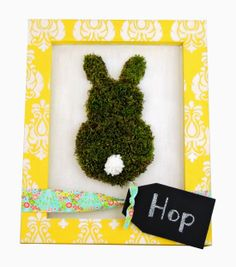 Framed Moss Bunny for Spring on @Jamie Wise Dorobek {C.R.A.F.T.} Warehouse  blog by @Stephanie Close Close Paxman (Crafting in the Rain)