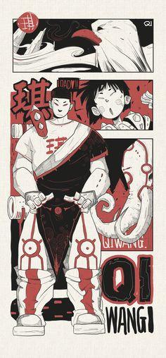 柴霖霖插画作品-SUPER POWER-九火宫|插画|涂鸦/潮流|柴霖霖 - 原创作品 - 站酷 (ZCOOL) Graffiti Designs, Comic Drawing, Super Powers, Adobe Illustrator, Art Reference, Funny Animals, Anime Art, Hand Painted, The Originals