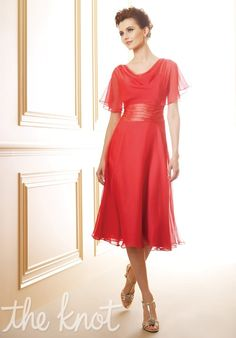 Mother of the groom dress! =D I wonder if it comes in the colors you need. This is so classically beautiful!