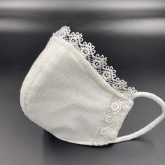 Easy Face Masks, Face Mask Set, Diy Face Mask, Mouth Mask Fashion, Fashion Face Mask, Sewing Hacks, Sewing Crafts, Mask Painting, Bridal Mask