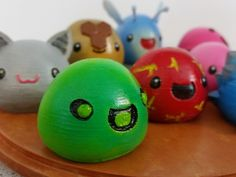 3D Printed Slimes [Slime Rancher] - Boom, Phosphor, Rad & Honey! by ChaosCoreTech - Thingiverse