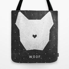 WOOF Tote Bag by Wesley Bird