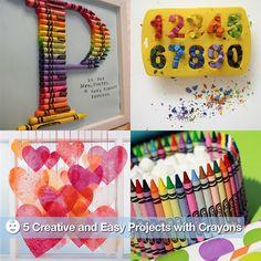 cute crayon crafts!