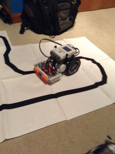 My robot following a line