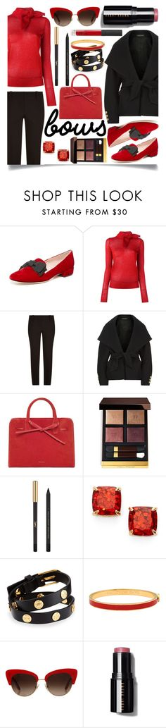 """Put a Bow on It!"" by ittie-kittie ❤ liked on Polyvore featuring Kate Spade, Isabel Marant, Brunello Cucinelli, Balmain, Tom Ford, Yves Saint Laurent, Tory Burch, Halcyon Days, Dolce&Gabbana and NARS Cosmetics"