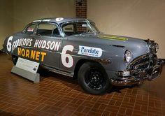 : Hudson Hornet still the most winning Nascar Driver-. Nascar Race Cars, Old Race Cars, Hudson Hornet, American Motors, Vintage Race Car, Hot Cars, Motor Car, Custom Cars, Dream Cars