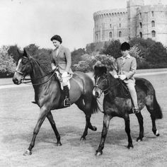 With the Prince of Wales out riding at Windsor Castle.