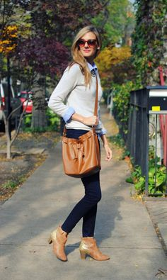 neutrals and tan preppy outfit