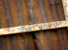 Never give up #Rwanda #kwizerahope