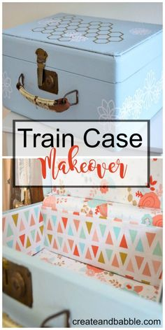 How to give an old suitcase or train case a makeover.
