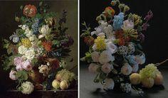 ダールという17世紀の画家の描いた絵の、花と果物をミニチュアにしました。
