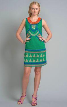 Vestido de Crochet Colorido - Alberta Ferretti