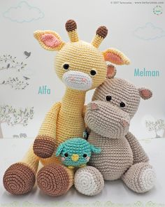 Pattern Free Amigurumi Alfa Giraffe Come to know us for our facebook and website. Patrón gratis Amigurumi Jirafa Alfa. Pasa a conocernos por nuestro facebook y sitio web. https://www.tarturumies.com https://www.facebook.com/Tarturumies/