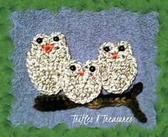A very quick and easy way to use up some of your scrap bits of yarn, with an adorable end result!