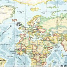 Landkaart - Gordijn & Interieur - Stoffen