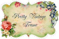 Free vintage Frame by FPTFY 1 web ex by Free Pretty Things For You!, via Flickr