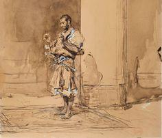 Mariano Fortuny y Marsal (Reus, 1838 – Roma, 1874), La plegaria (hacia 1872). Colección particular