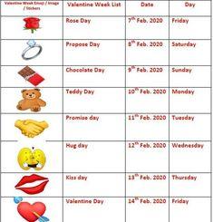 Valentine Week List 2020 Valentine Week List 2020 Saumya Shah Valentine Week 2020 thevalentineweekl offers the best valentine day quotes and valentine day nbsp hellip quotes chocolate
