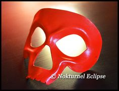 Red Skull Leather Mask Skeletor HeMan Comic Con Cosplay Horror Masquerade Halloween Fetish Costume UNISEX  -  Available In Any Basic Color on Etsy, $44.99