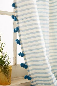 Slide View: 2: Pom Tassel Curtain