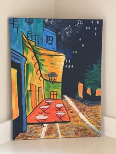 Van Gogh's Late Night Cafe by VibrantPictures on Etsy