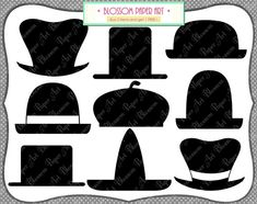 Printable Photobooth Props   Hats