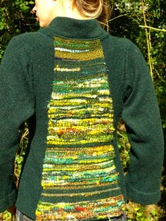 Unique Knitwear Designs Combined with Saori Weaving