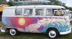 love the waves on the vw bus ♠ re-pinned by http://www.wfpblogs.com/category/toms-blog/