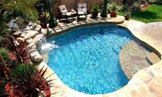Here are 40 truly awesome yet easy to construct DIY swimming pool ideas to turn your backyard into a dose of refreshment! tags: backyard ideas, swimming pool design, backyard pool ideas on budget, small backyard pool, backyard pool lanscaping. Small Swimming Pools, Small Pools, Swimming Pools Backyard, Swimming Pool Designs, Backyard Pool Landscaping, Backyard Pool Designs, Small Backyard Landscaping, Backyard Ideas, Landscaping Ideas