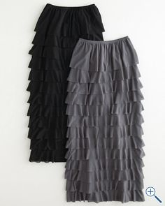 I want very badly!! Seville Ruffled Long Skirt