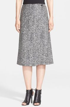 Theory 'Gantrima' Tweed A-Line Skirt available at #Nordstrom