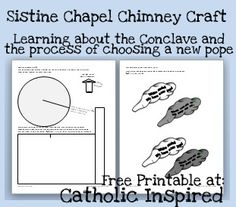 Learning About the Election of a New Pope {Reading comprehension & a craft} | Catholic Inspired ~ Arts, Crafts, and Activities!