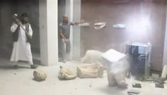 ISIS posted a video on Thursday on Twitter showing men destroying ancient artifacts with sledgehammers. It is unclear exactly when the video was recorded.